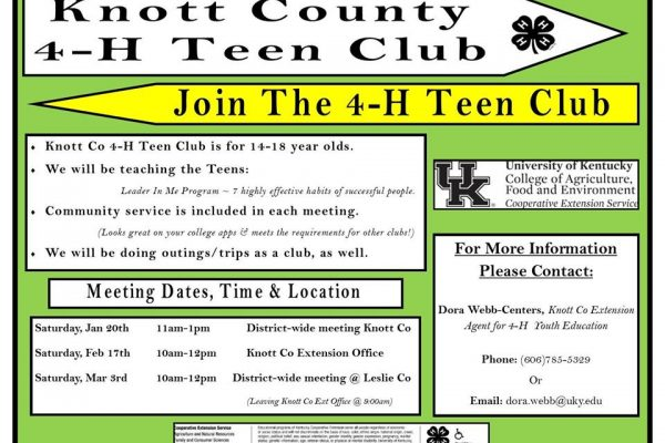4-H Teen Meeting