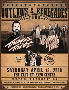 Outlaws and Renegades Tour - Travis Tritt, Marshall Tucker Band (Expo Center) @ East Kentucky Expo Center | Pikeville | Kentucky | United States