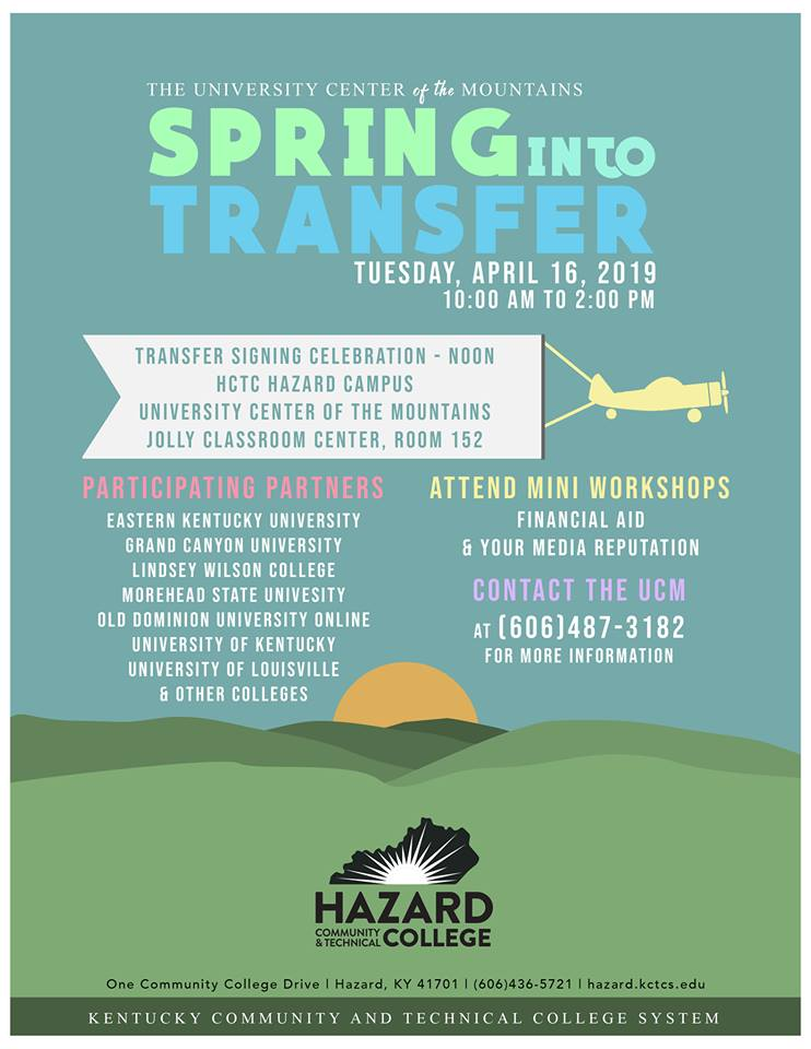Spring into Transfer @ HCTC | Hazard | Kentucky | United States