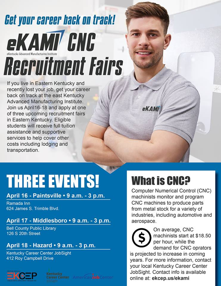 eKAMI CNC Recruitment Fair @ Kentucky Career Center JobSight | Hazard | Kentucky | United States