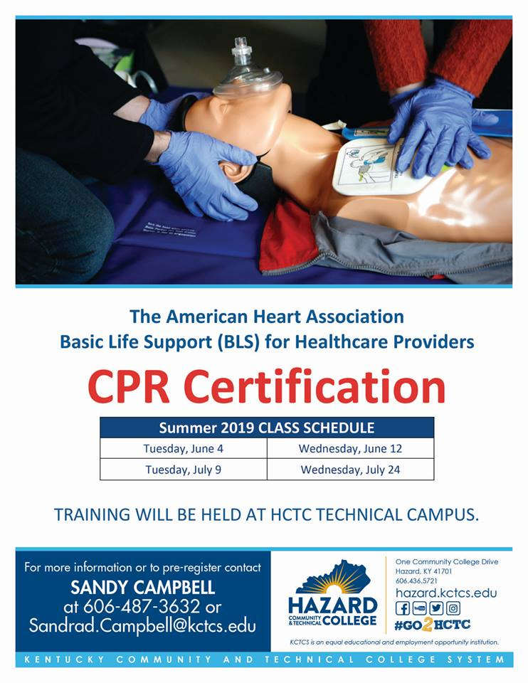 2019 CPR Certification - HCTC @ HCTC Tech Campus | Hazard | Kentucky | United States