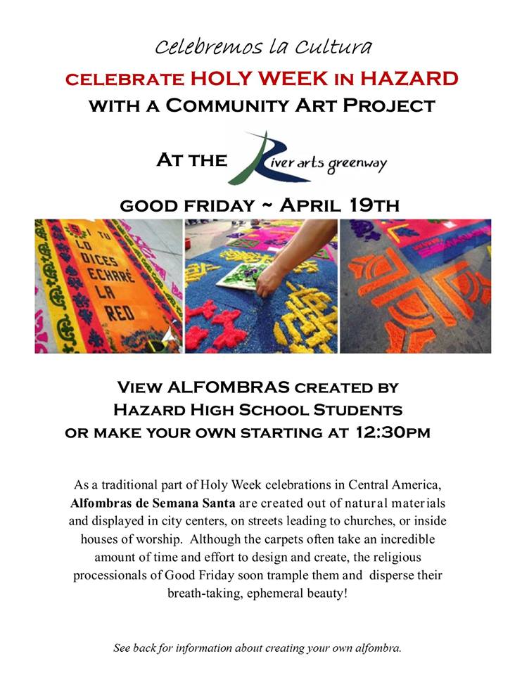 Alfombras - Community Art Project @ River Arts Greenway | Hazard | Kentucky | United States