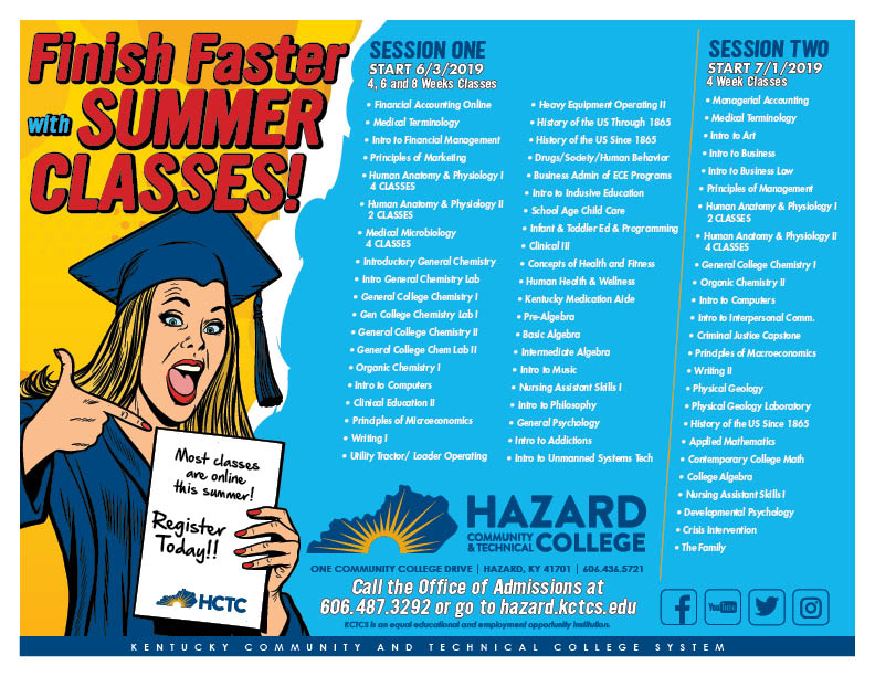 Register for HCTC Summer Classes @ HCTC | Hazard | Kentucky | United States