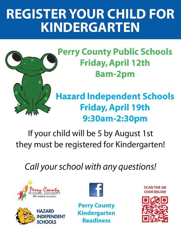 Perry County Schools - Kindergarten Registration