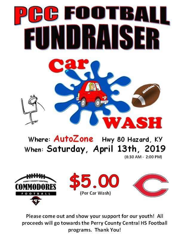 PCC Football Fundraiser - Car Wash @ AutoZone | Hazard | Kentucky | United States