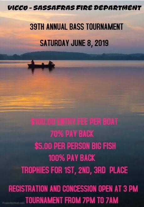 Vicco-Sassafras Fire and Rescue Bass Tournament @ Carr Fork Lake | Sassafras | Kentucky | United States