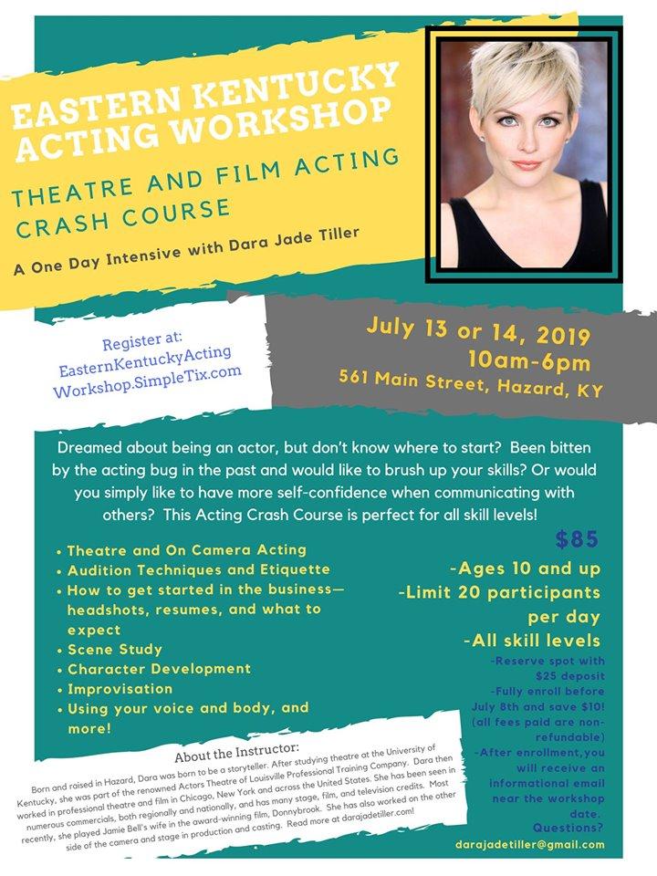 Eastern Kentucky Acting Workshop @ Appalachian Apparel | Hazard | Kentucky | United States