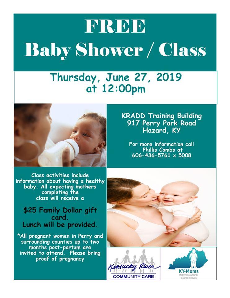 Free Baby Shower / Class @ KRADD - Training Building | Hazard | Kentucky | United States