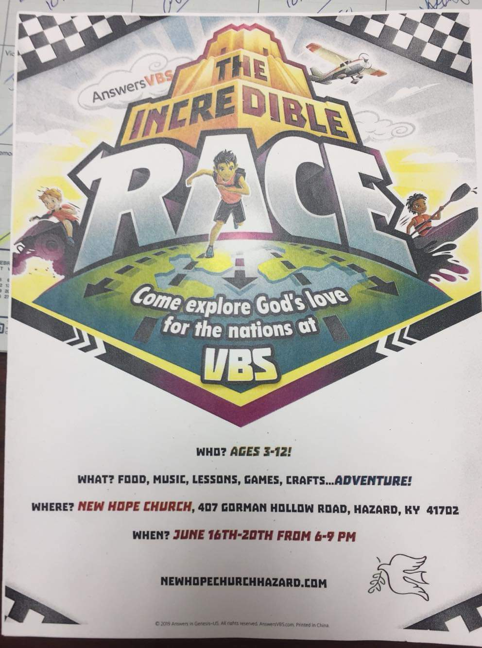 The Incredible Race VBS - New Hope @ New Hope Church | Hazard | Kentucky | United States