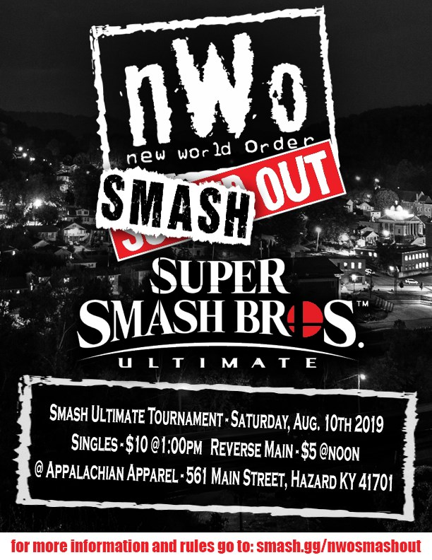 NWO Smash Out (SSBU) @ Appalachian Apparel | Hazard | Kentucky | United States