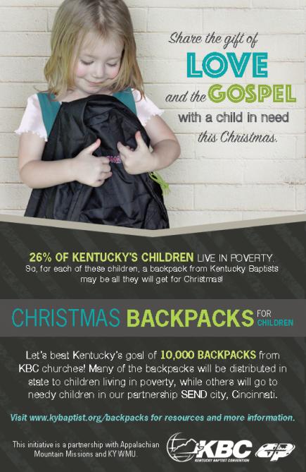 Christmas Backpacks for Children - Dropoff @ Smithsboro Baptist Church | Sassafras | Kentucky | United States