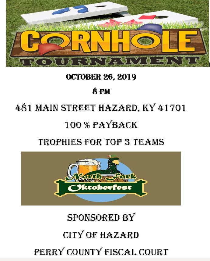 Cornhole Tournament @ Downtown Hazard | Hazard | Kentucky | United States
