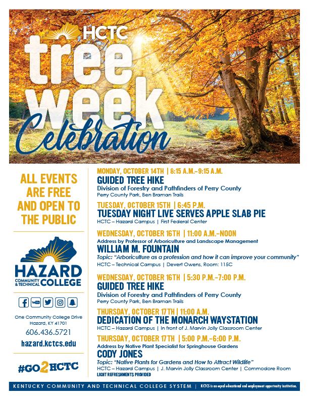 Fall Tree Week - HCTC @ HCTC   Hazard   Kentucky   United States
