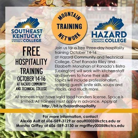 Free Hospitality Training - HCTC @ HCTC   Hazard   Kentucky   United States