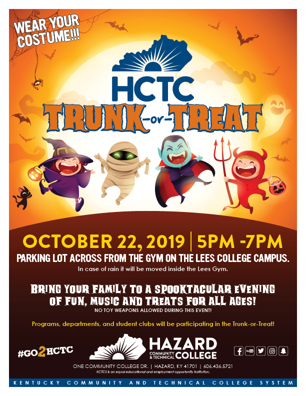 Trunk or Treat - Lee's Campus @ HCTC - Lees College Campus | Jackson | Kentucky | United States