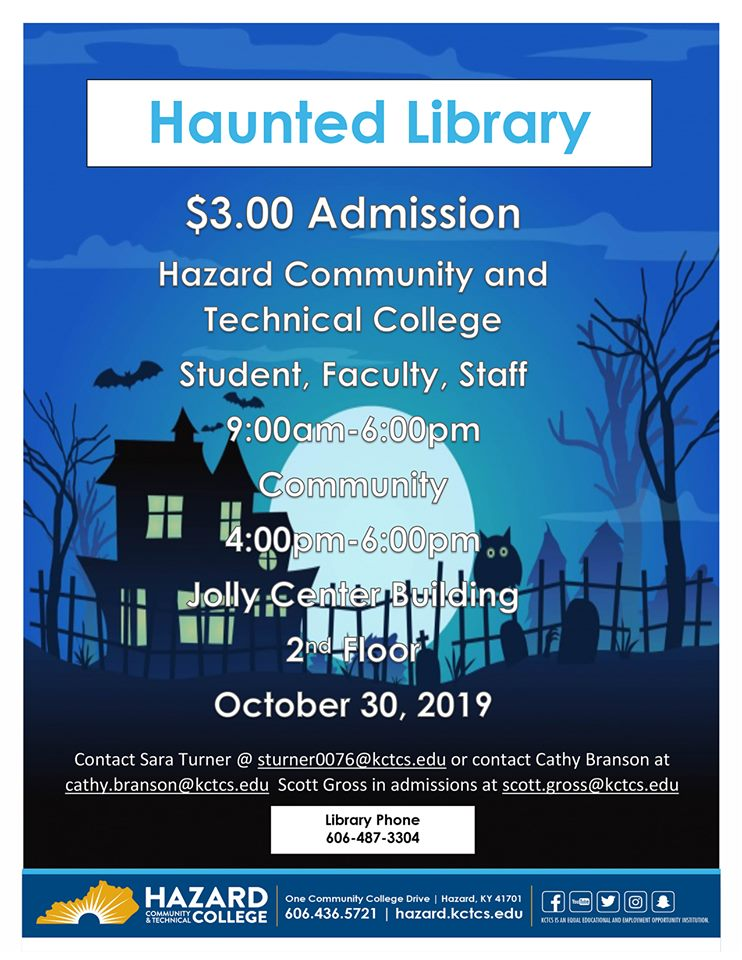 Haunted Library - HCTC @ HCTC | Hazard | Kentucky | United States