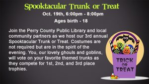 Spooktacular Trunk or Treat @ Perry County Public Library | Hazard | Kentucky | United States