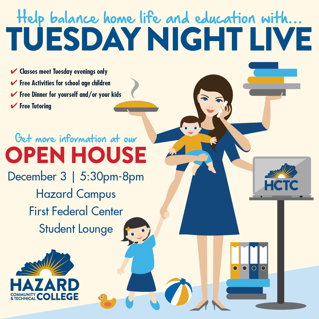 Tuesday Night Live - Open House @ HCTC | Hazard | Kentucky | United States