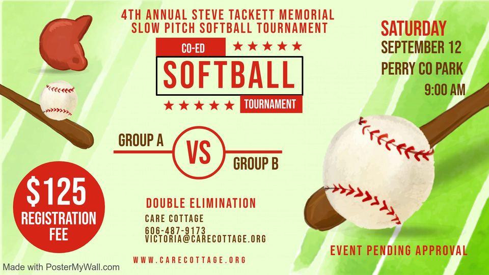 4th Annual Steve Tackett Memorial Softball Tournament @ Perry County Park   Hazard   Kentucky   United States