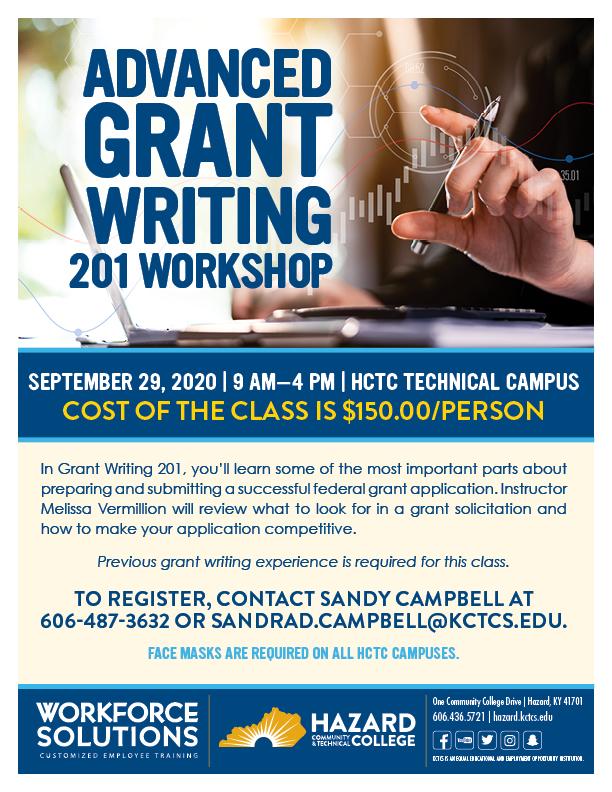 Advanced Grant Writing 201 Workshop @ HCTC Tech Campus | Hazard | Kentucky | United States